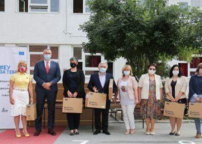Roma students received modern teaching aids